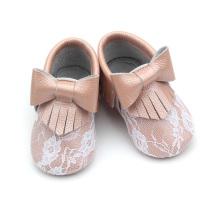 Sapatos antiderrapantes com sola macia para atacado e mocassins para bebês