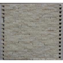 Azulejo de mosaico de piedra blanca de 8 mm