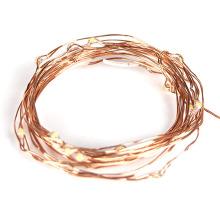 Mini guirlande lumineuse en fil de cuivre blanc chaud