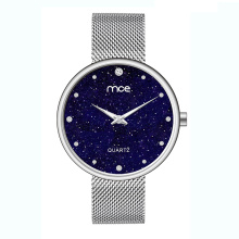 New fashion lady star diamond mesh quartz watch