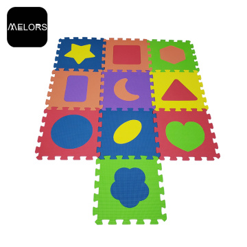 Colorful EVA Foam Shape Kid Mainkan Puzzle Mat