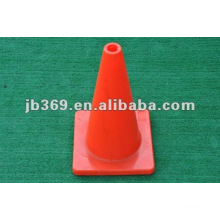 PVC TRAFFIC CONE WITH RUBBER BASE