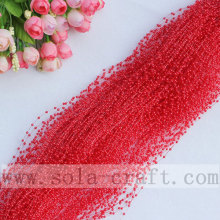 The Bright Red Color Pearl String Beaded Chains For Even Supplies
