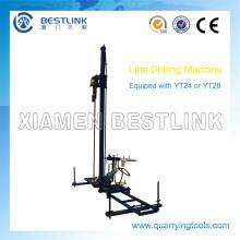 Steinbruch Mobile Pneumatikleitung Bohrhammer zum Bohren