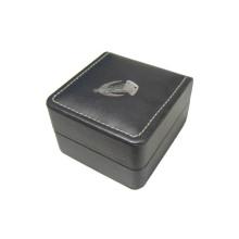 Caja de exhibición negra única del reloj del cuero de la PU (BX-BLS1)