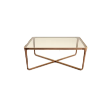 High-grade Nordic Style Wooden Tea Table with Glass