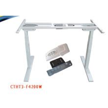 Американская мебель Эшли регулируемая высота скобяными офисный стол с 2 ножками подъемной колонной