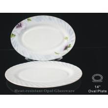 """Pyrex Opalescent Glass-14"""" Waist Dish"""