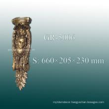 European Decorative Polyurethane Carved Corbel for Home Decor