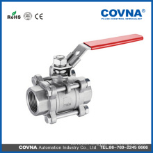 bsp thread cf8m stainless stee 3pc butt weld ball valve made in China