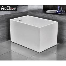 Aokeliya 2021 new arrival acrylic corner-installing freestanding bathtub rectangle shape bathtub with faucet for sale