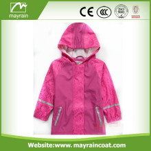 Lovely Rose PU Kids Raincoat