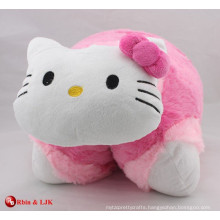 custom promotional lovely plush toy cat cushion