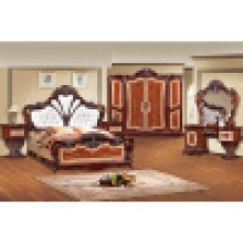 Home Furniture with King Bed and Wardrobe and Cabinet (W838)