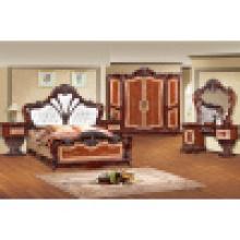 Móveis para casa com cama king size e guarda-roupa e armário (W838)