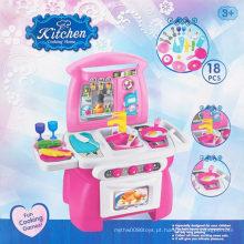 Educacional menina brinquedo cozinha cozinhar jogo brinquedo conjunto