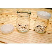 100ml Glass Pudding Jar with Plastic Lid