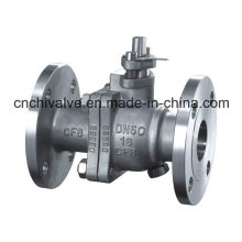 Stainless Steel Two Pieces Flange Ball Valve