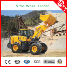 Carregadeira de rodas de alta eficiência Zl50 de 5 toneladas com garfo (5000 kg)