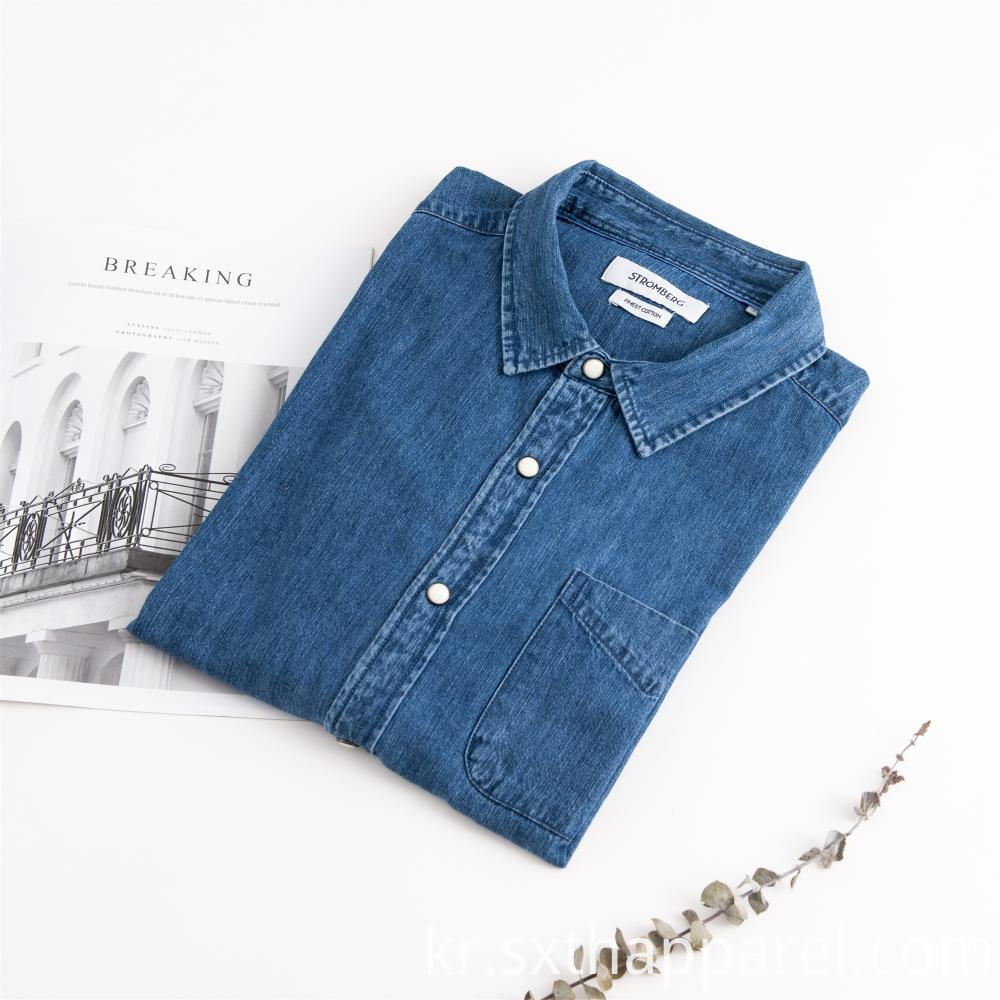 Men's Casual Denim Jacket Style Shirt