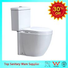 baño de cerámica wc color blanco inodoro de dos piezas
