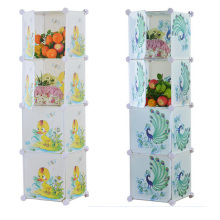 4 Doors DIY Plastic Storage Wardrobe Cabinets for Home (ZH0024)