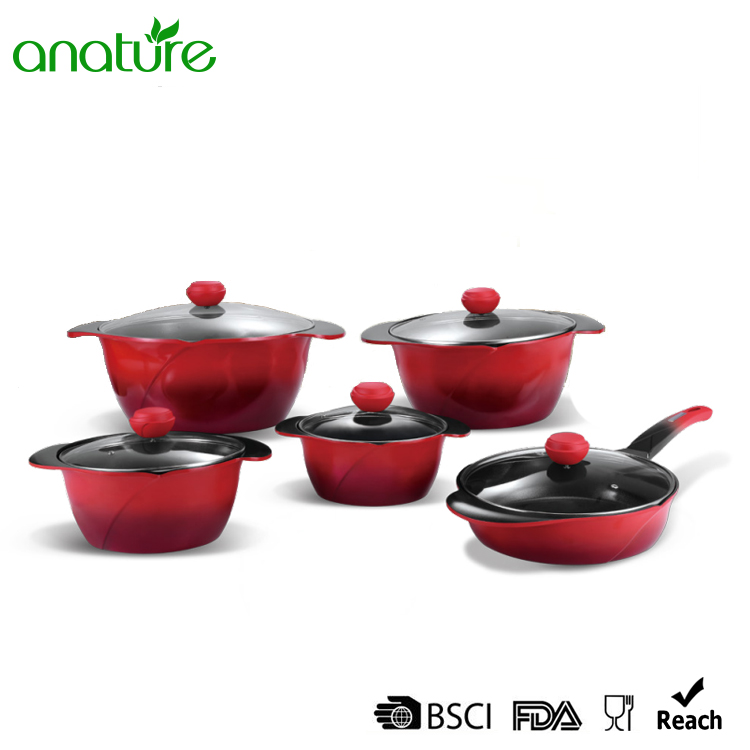 Gradient Tone Die Cast Non Stick Cookware Set