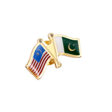 National Flag Pins, Brass Gold Plated Badges (GZHY-LP-026)