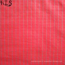Tissu 100% tissé teint par fil de popeline de coton pour des chemises / robe Rlsc50-30
