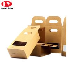 Kraft Paper Tea Box with Die Cut Handle