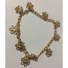 Belle fleur bracelet de cheville en métal