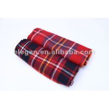 100% ACRYLIC MULTIFUNCTIONAL SOLID WOVEN CHECKED SHAWL