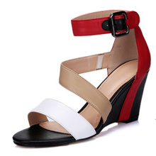 Neue Kollektion Fashion High Heels Frauen Wedge Sandalen (HS17-80)