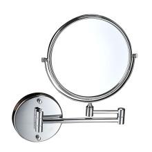 Hotel baño de acero inoxidable maquillaje espejo de pared redondo