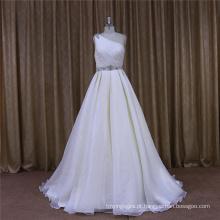 Um ombro Organza vestido de noiva 2016