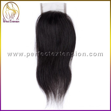 3 part silk base lace closure with clip in,hot sale wholesale stock peruvian hair closure