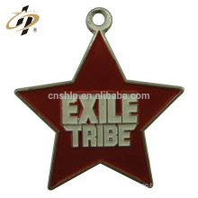 Metal Cheap Customized Promotional silver super star pendant