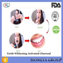 China líder fornecedor venda private Label carvão ativado dentes branqueamento em pó