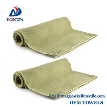 High Quality Double Side Suede Microfiber Towel with Embossed logo