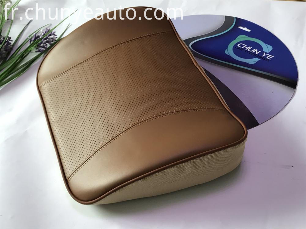 Genuine Leather Auto Lumbar Support Cushion
