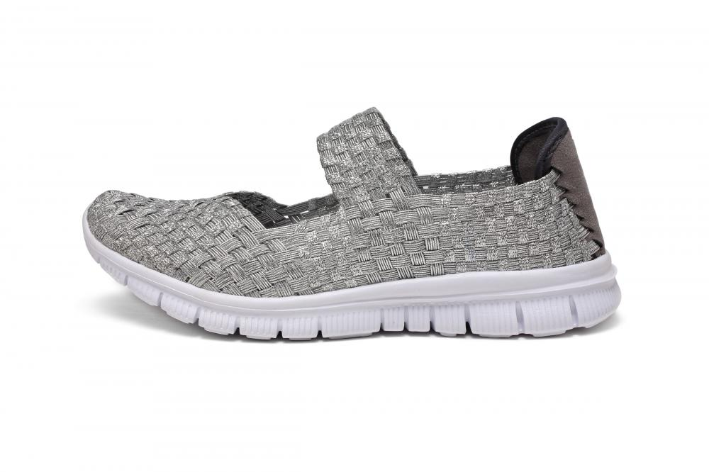 Silver Woven Dance Shoes