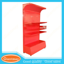 shopping mall cosmetic metal display stand with basket and shelf