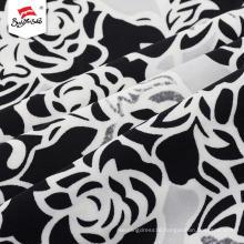 Custom Made Stretch Flower Border Print Dress Fabric