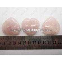 Подарок на день св. Валентина оптом, натуральное драгоценное сердце, розовое сердце кварца