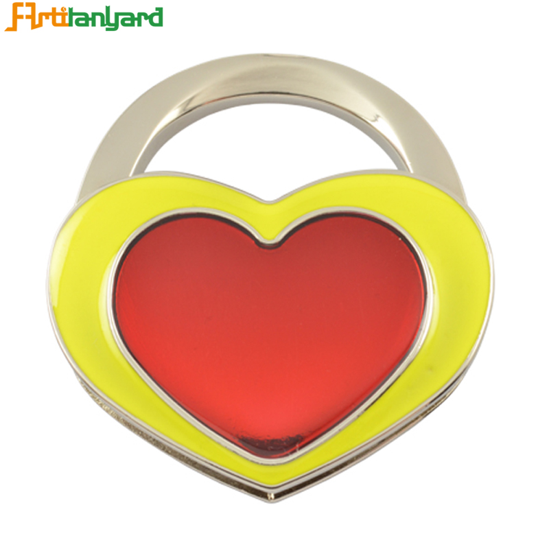 Heart Zinc Alloy Bag Hanger