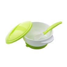 Plastic baby feeding snack bowl suction baby bowl spoon set