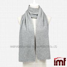 Серый трикотажный шарф из кашемира