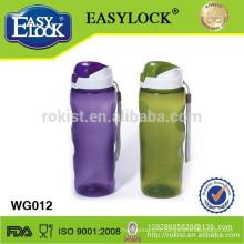 plstic flexible water bottle with screw cap