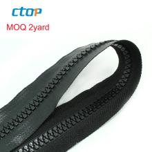 wholesale custom fashion high quality tpu 5# black long chain plastic waterwroof zipper roll