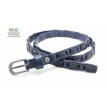 Fashion Basic Braided Genuine Top Leather Lady Belt Lky1184